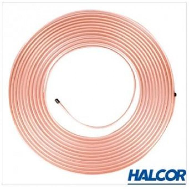 """Труба мідна HALCOR 3/8"""" (9,53 / 0,813мм), бухта 45 м"""