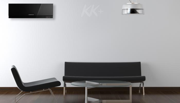 Кондиціонер Кондиціонер Mitsubishi Electric Design черный MSZ-EF - ціна в Києві, купити в Києві, монтаж кондиціонера, картинка в інтер'єрі
