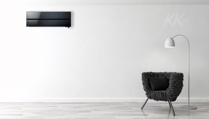 Кондиціонер Mitsubishi Electric Premium Inverter Zubadan MSZ-LN чорний, чорний онікс - ціна в Києві, купити в Києві, монтаж кондиціонера, картинка в інтер'єрі