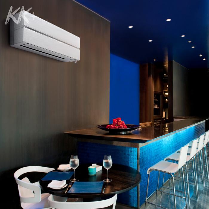 Кондиціонер Mitsubishi Electric Premium Inverter MSZ-LN перламутровий, перламутрово-білий- ціна в Києві, купити в Києві, монтаж кондиціонера, картинка в інтер'єрі